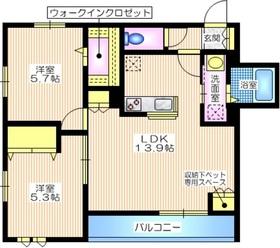 Aster アステル1階Fの間取り画像