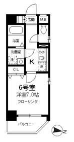 SKガーデン亀戸9階Fの間取り画像