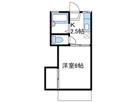 ディアベルジュ厚木2階Fの間取り画像