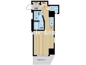 神楽坂フラッツ4階Fの間取り画像