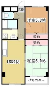 ナズ久米川レックス3階Fの間取り画像