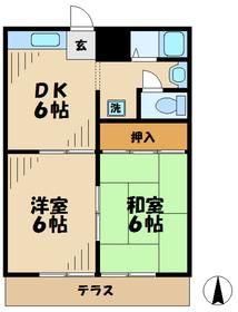 諏訪ハイム122階Fの間取り画像