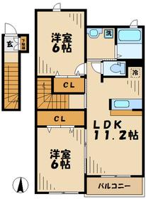 パストラルコート2階Fの間取り画像