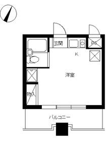 スカイコート西川口第55階Fの間取り画像