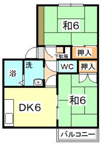 メゾン庭瀬 C2階Fの間取り画像