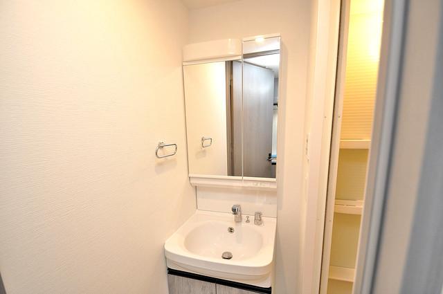レジュールアッシュOSAKA新深江 人気の独立洗面所はゆったりと余裕のある広さです。