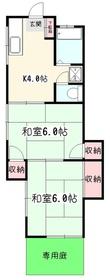 小俣コーポ1階Fの間取り画像