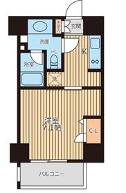 レジディア新横浜2階Fの間取り画像