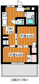 幸田セントラルマンション2階Fの間取り画像