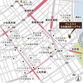 プレミスト日本橋浜町リデアル案内図