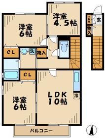門沢橋駅 徒歩28分2階Fの間取り画像