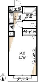 ガーデンコート1階Fの間取り画像