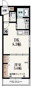 仮称)本町5丁目メゾン3階Fの間取り画像