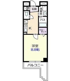 アルト・プエンテ平井5階Fの間取り画像