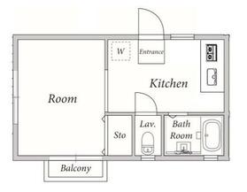 テラスホンダ2階Fの間取り画像