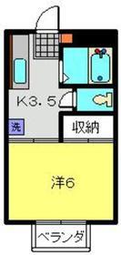 武蔵中原駅 徒歩13分3階Fの間取り画像