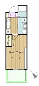 メゾンドシャノワール1階Fの間取り画像