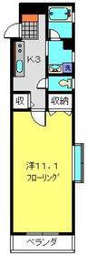 フラット福寿第114階Fの間取り画像