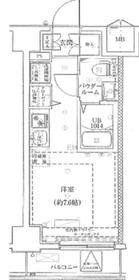 LUMEED横浜阪東橋4階Fの間取り画像