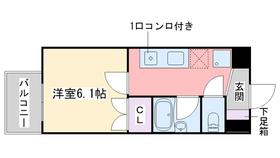 ハートマンション6階Fの間取り画像