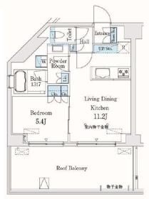 市谷仲之町ビューアパートメント10階Fの間取り画像