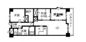 ブランシャトー6階Fの間取り画像