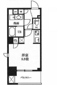 レクシード神田9階Fの間取り画像