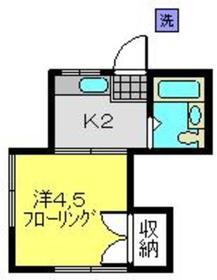 菊名駅 徒歩10分2階Fの間取り画像