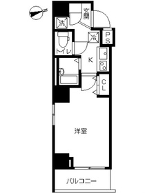 スカイコート品川南大井9階Fの間取り画像