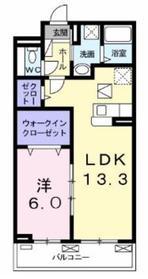 イリーデ大上2階Fの間取り画像
