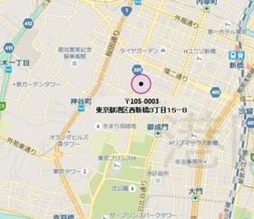 御成門駅 徒歩7分案内図