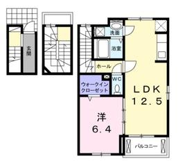 ラコリーヌ3階Fの間取り画像