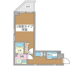 月島駅 徒歩10分3階Fの間取り画像