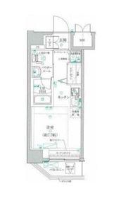 クラリッサ川崎ソレイユ6階Fの間取り画像