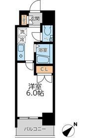 S‐FORT蒔田公園(エスフォートマイタコウエン)6階Fの間取り画像