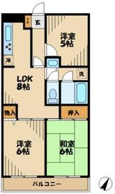 ファインコート黒川5階Fの間取り画像
