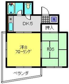 ライジングビルYOSHIZAKI4階Fの間取り画像