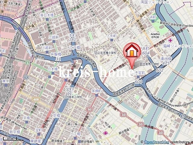カーサスプレンディッド日本橋水天宮案内図