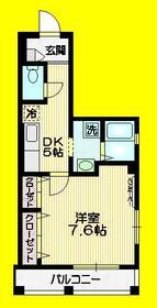 キャッスルカミオギ3階Fの間取り画像