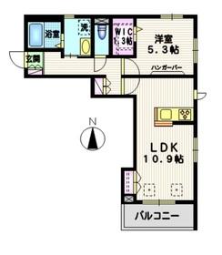 ミモザ石神井公園3階Fの間取り画像