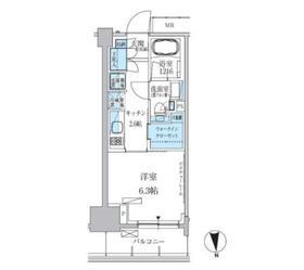 パークアクシス上野三丁目4階Fの間取り画像