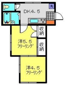 グリーンコート2階Fの間取り画像