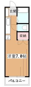 丸山荘1階Fの間取り画像