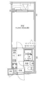 LUMEED飯田橋2階Fの間取り画像