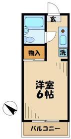 第三青葉ハイツ1階Fの間取り画像