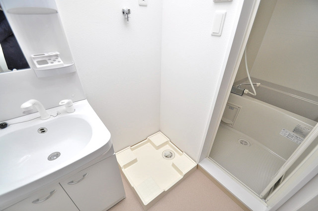 Fmaison verde(エフメゾン ベルデ) 嬉しい室内洗濯機置場。これで洗濯機も長持ちしますね。