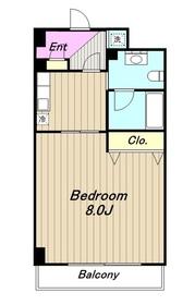マンションホワイトホース3階Fの間取り画像