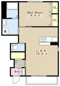 プリメーラⅡ1階Fの間取り画像