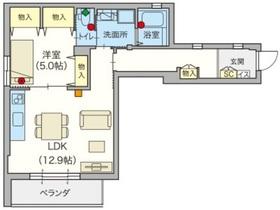 (シニア限定)ヘーベルVillage武蔵野城山通り3階Fの間取り画像