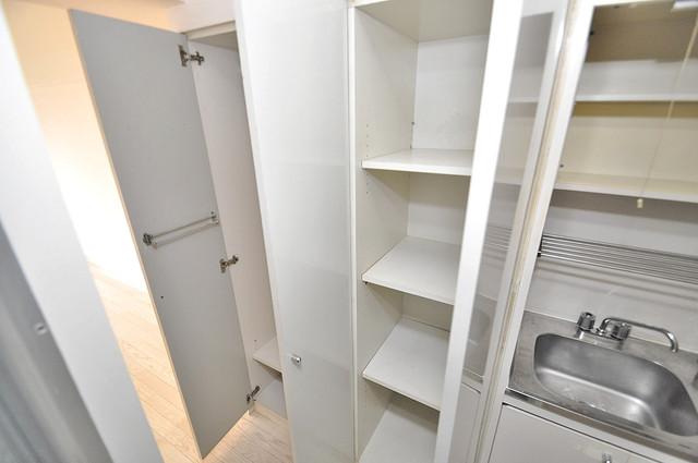 エクセルシオール長田 各所に収納があるので、お部屋がすっきり片付きますね。